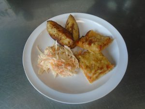 Pizza, Wedges and Coleslaw