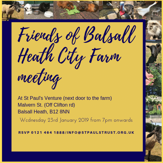 Friends of Balsall Heath Farm Leaflet 1