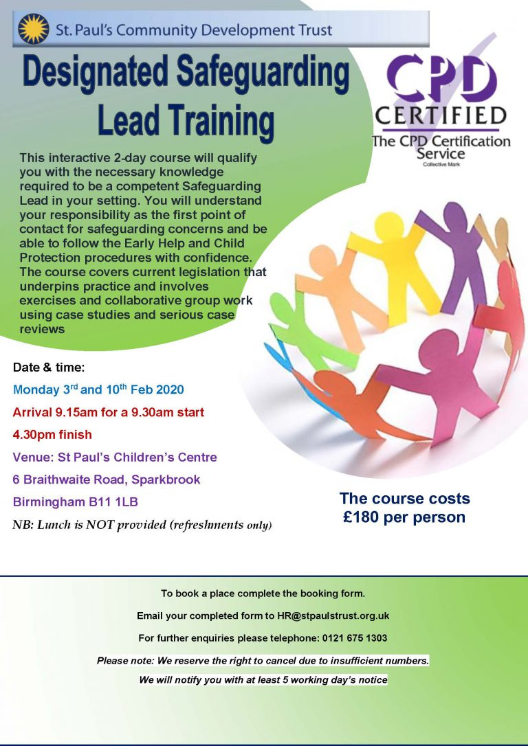 DSL Training 2 Day Poster - 3rd 10th Feb 2020
