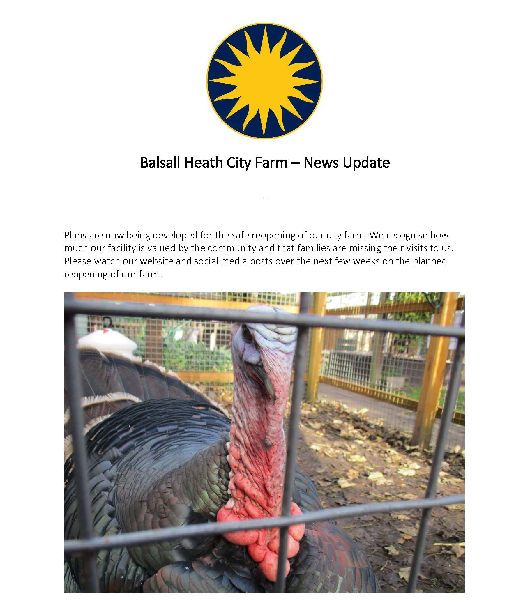 Balsall Heath City Farm Plans in motion to reopen